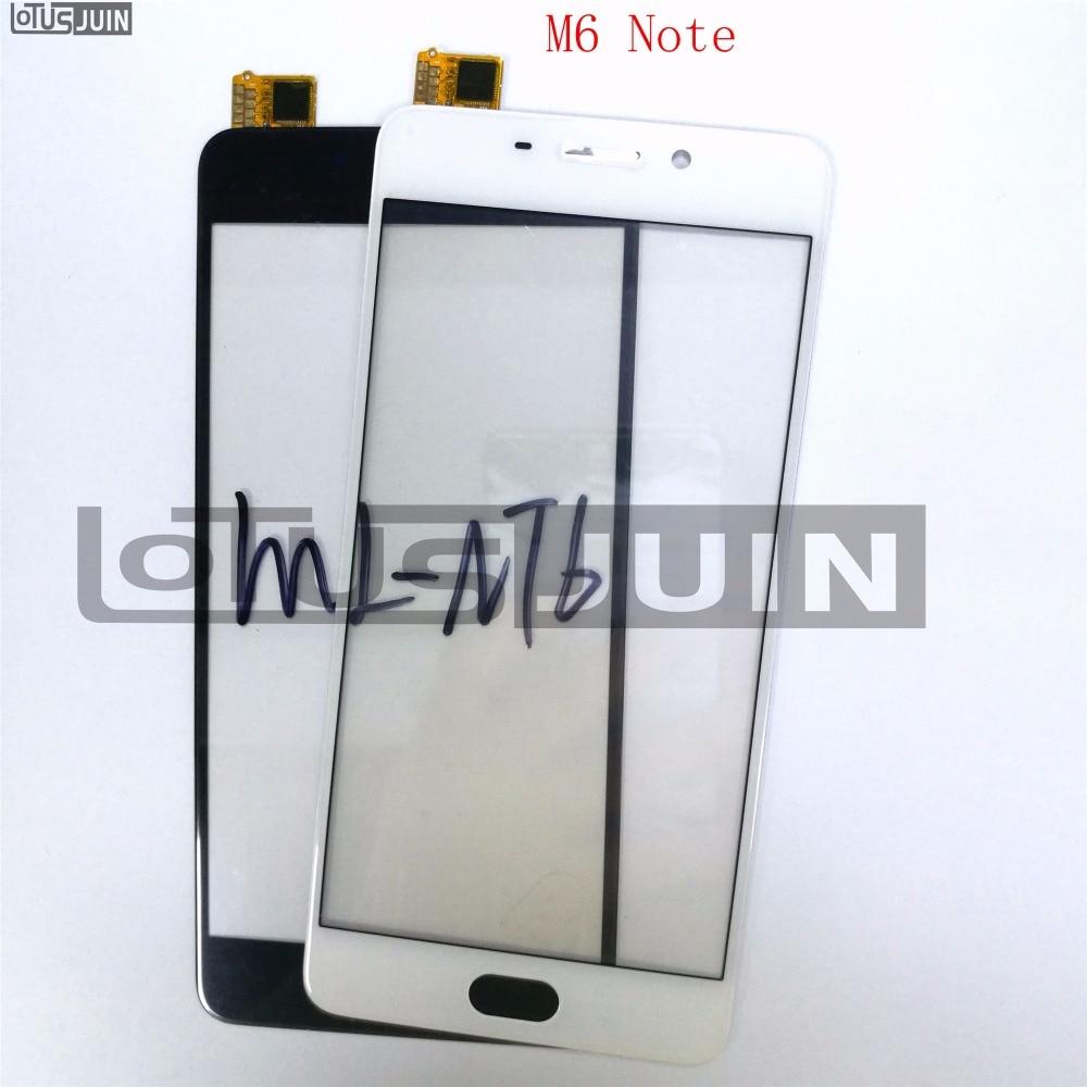 1pcs Touch Screen Sensor Digitizer Glass lens For Meizu M6 Note 5.5 Front Replacement Parts