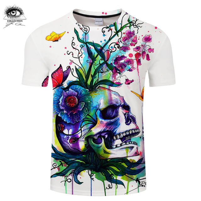 1a992d1b5 Candid by Pixie cold Art Men 3D Skull T-shirts Summer Tops Male T shirts  Brand Camiseta Short Sleeve Printed Tees Funny Tshirts
