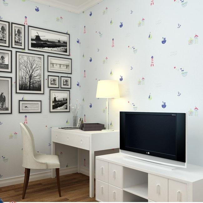 comprar papel pintado para nios no tejida wallpapers para nios dormitorio de dibujos animados mural preciosos veleros juvenil para las