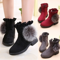 Girls Boots 2017 Autumn And Winter New Children S Shoes Children S Snow Boots Princess Booties