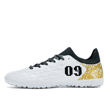 af8157858df Fires 2017 Indoor Futsal Footbal Soccer Shoes Sock Cleats Man Football Shoes  with Ankle Boots Original