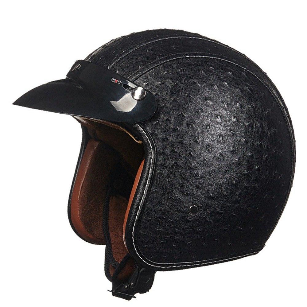 3 Colors Retro Open Face Motorcycle Helmet Vintage Half Motocross Helmets Accessories For Harley Motorbike Off