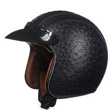 3 цвета Ретро открытым Уход за кожей лица мотоциклетный шлем Винтаж половина Мотокросс Шлемы Интимные аксессуары для Harley мотоцикл off road скутер