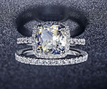 Women Platinum Wedding Ring Jewelry Diamond Jewelry