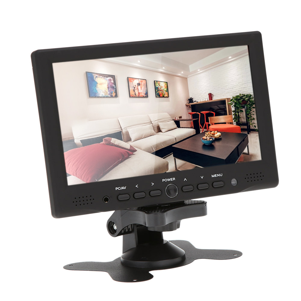 7 tft led hd color monitor pc av hdmi vga input receiver. Black Bedroom Furniture Sets. Home Design Ideas