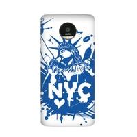 New York Ville Amérique USA Liberté Étoiles Rayé Drapeau Cas pour Moto pour Motorola Z Z2 Force Jouer Magnétique Mods Couverture PhoneCase
