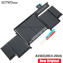 Оригинальный Новый A1493 ноутбука Батарея для Apple MacBook Pro 13 «2013 Retina A1502 ME864LL/ME866LL/A ME865LL/MGX72 ME864 ME866