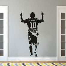 Vinyl Wall Sticker Football Player Decal Messi Soccer Star Wallpaper Removable Murals AY1656