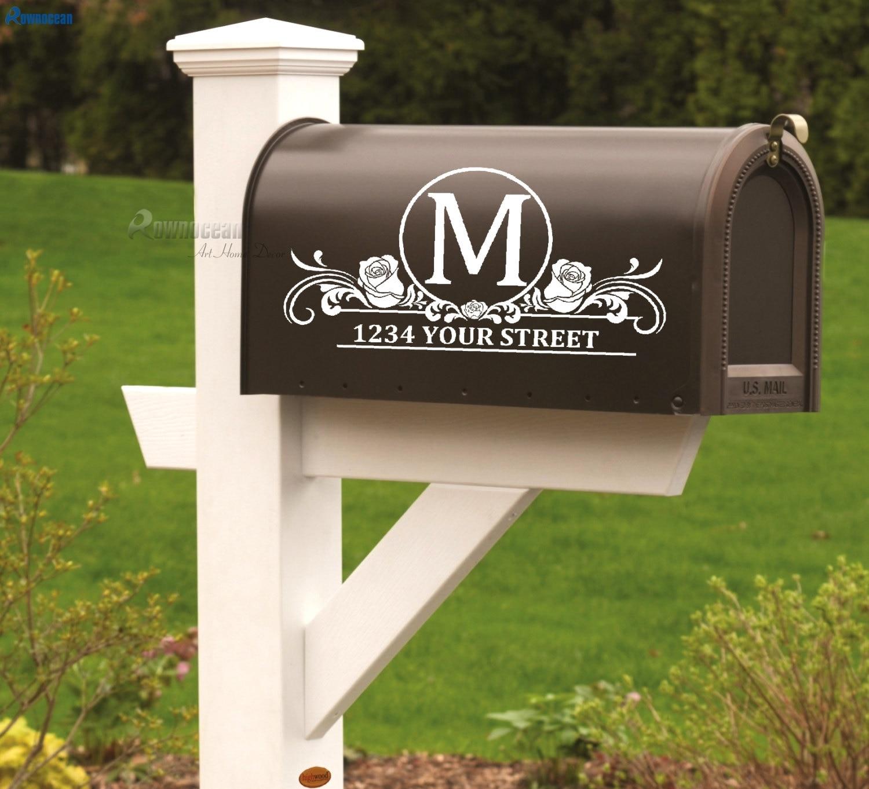 Mailbox House Street Address Number Vinyl Decal Sticker Business Store Custom