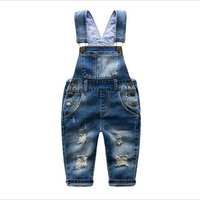 2 3 4 5 6 7 8 9 Years Kids Denim Jumpsuit 2017 New Fashion Children