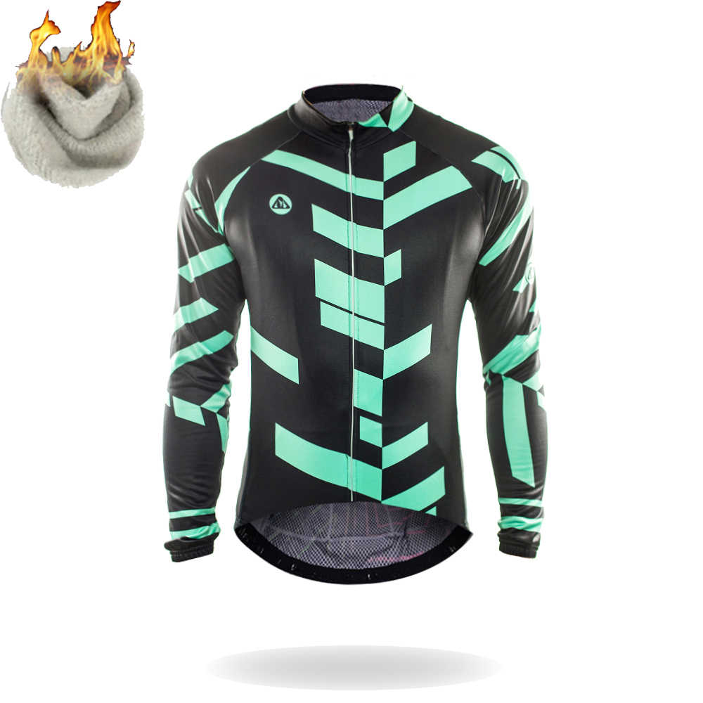 Racmmer Warm 2018 Pro Winter Thermal Fleece Cycling Jersey Ropa Ciclismo Mtb  Long Sleeve Men Bike 915f9d057