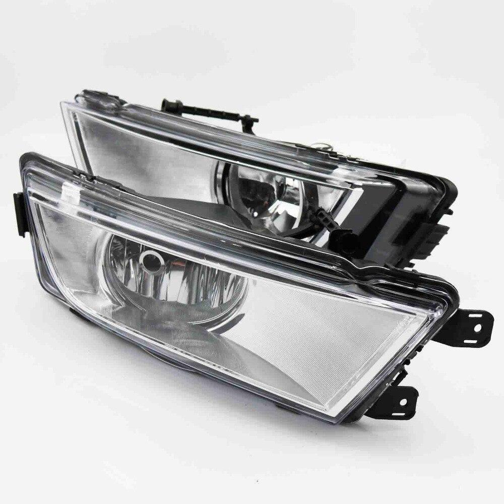 2Pcs Car Styling For Skoda Octavia A7 2013 2014 2015 2016 Front Halogen Fog Light Fog Lamp White With Bulb givenchy 2014 12g 2 7