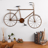 Creative Retro Industrial Style Iron Bicycle Wall Hanging Bedroom Bar Cafe Home Wall Decoration Metal Bike on Wall Craft Decor