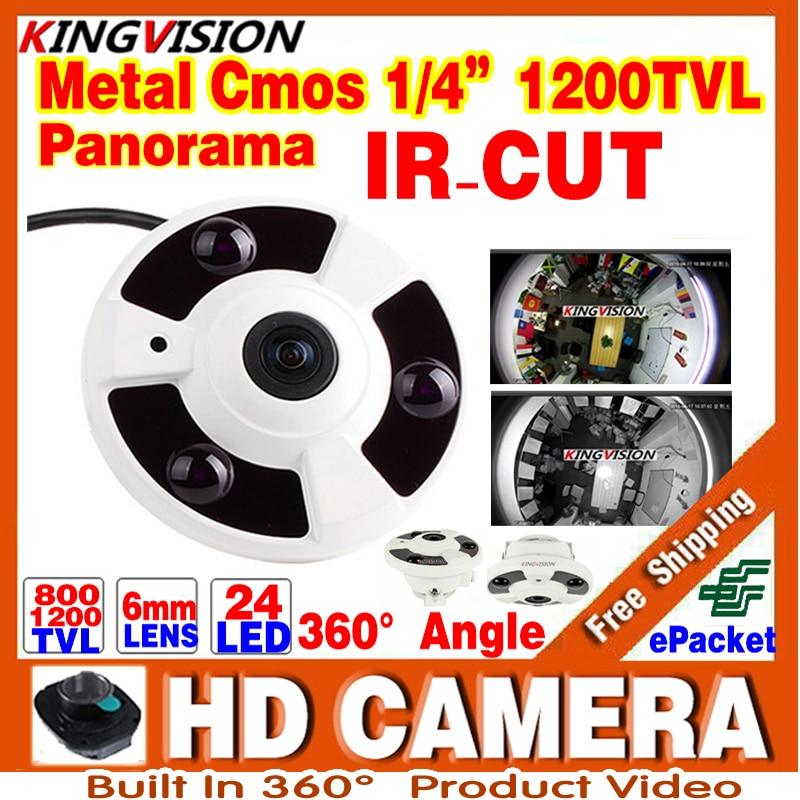 2017New Panorama 360 CCTV Analog CAMER 1/3cmos 800/1200TVL Degree Fisheye Lens 1.55MM IR Night Vision Distance 20M Order Video