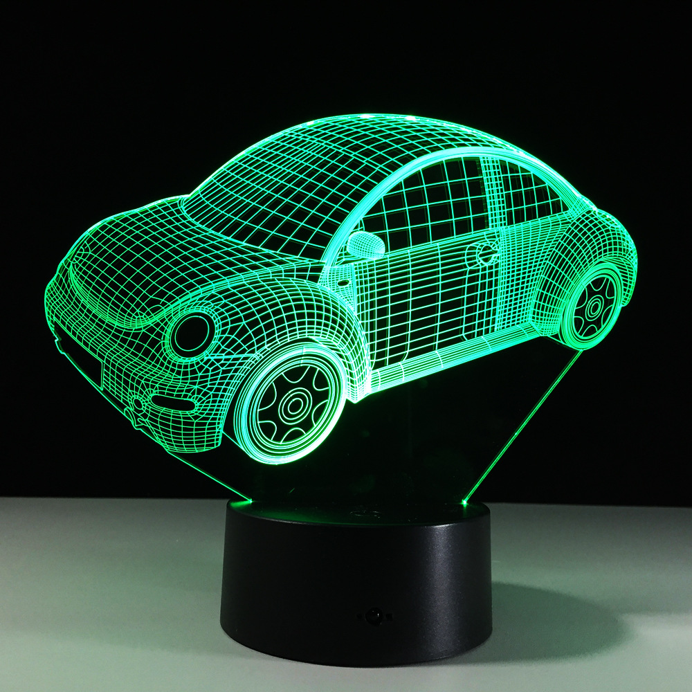 Baby Nursery Vehicle Nightlight For.. Easy And Simple To Handle Provided Kids 3d Night Light Car Illusion Lamp