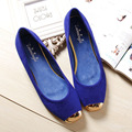 2016 Women Fashion Flats Shoes Square Toe Leather Shoes Women Loafers Woman Flats Plus Size Ballet Flat With Shoes Woman 35-42