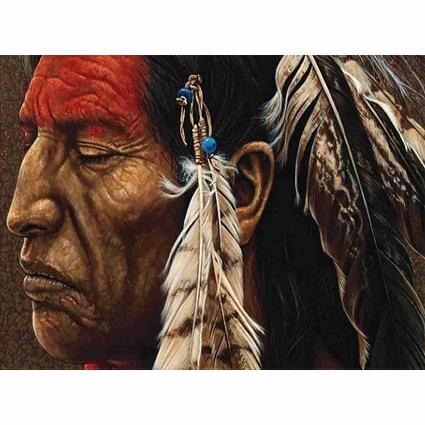 Indiase oude man 5d diy volledige diamant schilderij handwerken - Kunsten, ambachten en naaien
