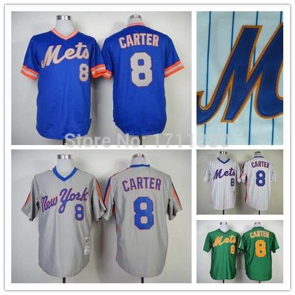 timeless design 6722e d7c67 New York Mets throwback jersey mens 8 Gary Carter jersey ...