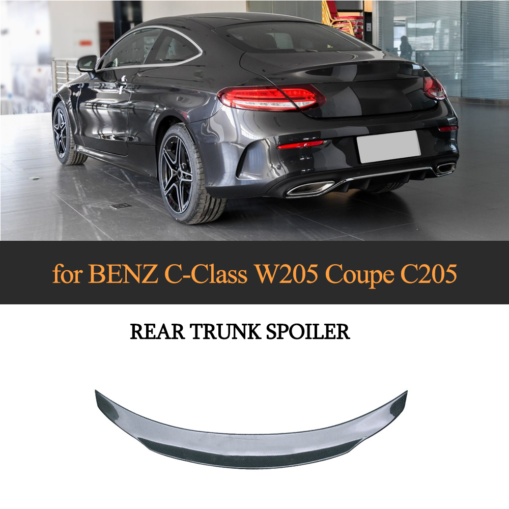 TRUNK SPOILER FOR 2015-18 W222 S63 S65 2DR COUPE CARBON FIBER REAR WINDOW ROOF