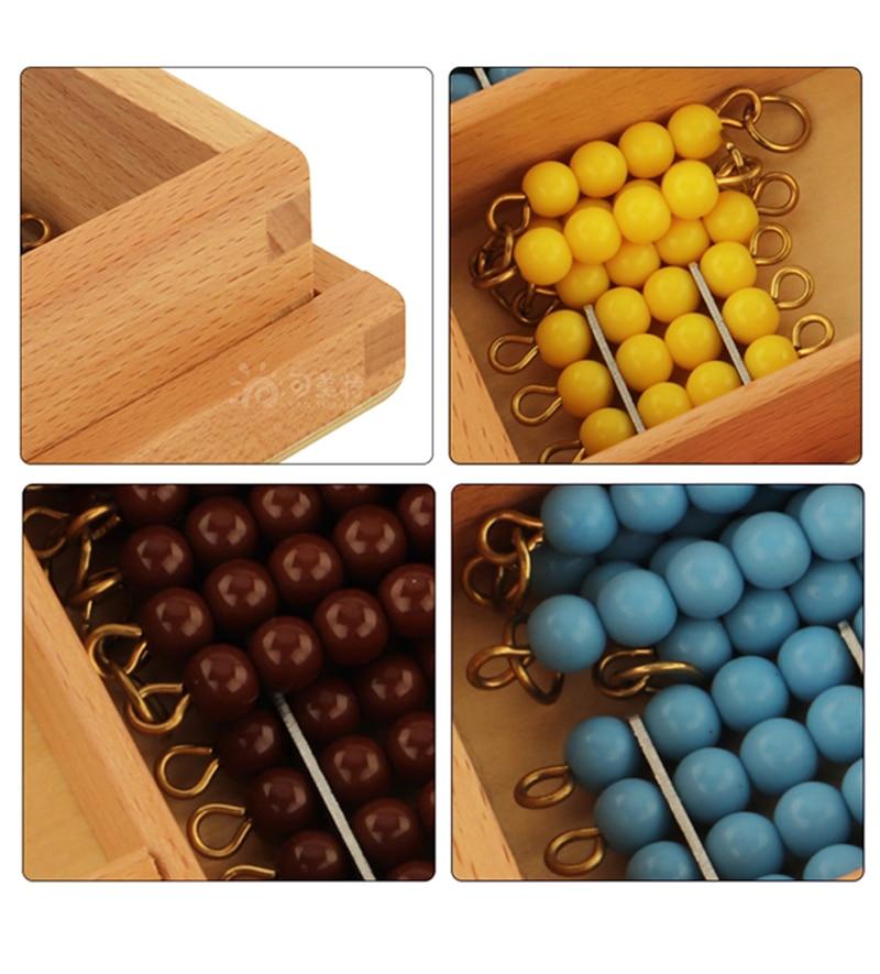 Houten Kleurrijke Kralen Soroban Abacus Math Speelgoed Berekening Kinderen Educatief Nummers Training Montessori Materialen MA035 3 - 4