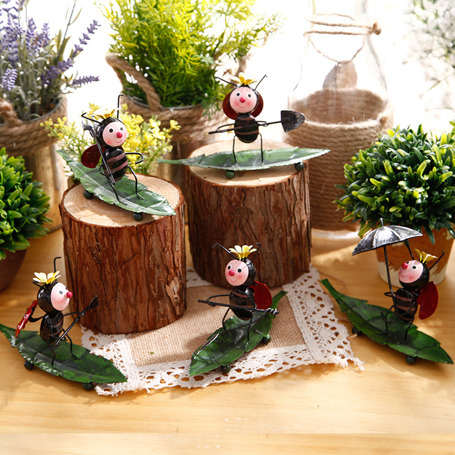 Vivid Fairy Garden Miniature Beetles Ants Ladybird Home Decor
