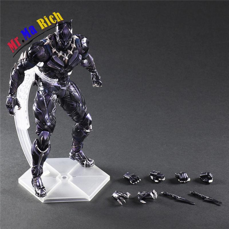 Gioca Arts Kai Black Panther Figure Captain America Film Di Guerra Civile Pantera Nera Pvc Action Da Collezione Model Toy Doll italia codice di procedura civile