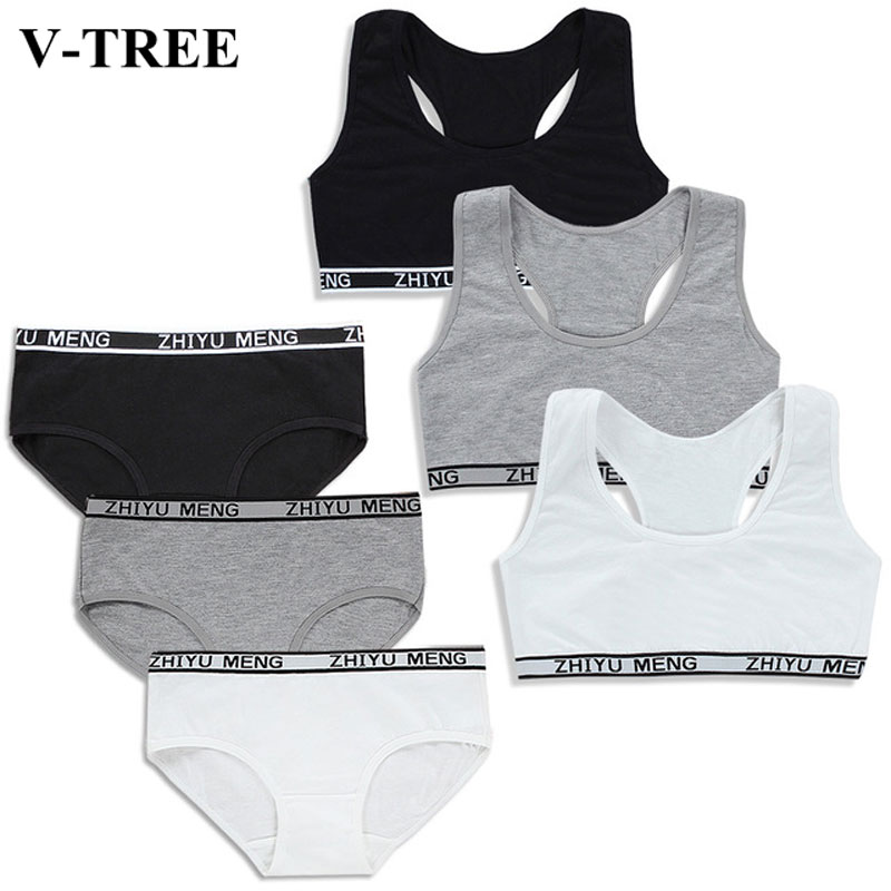 Young Girls Bra And Panties Sets Girls Of 12 Years In Underwear Young Training Bra Teenage Bra Baby Lingerie Kids Sports Bra