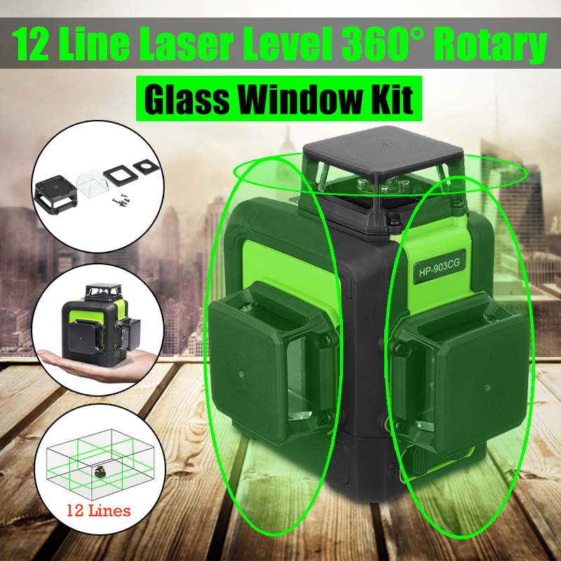 12 Lines Green Cross Line Laser Level 510nm 360 Degree Rotation Auto Leveling Horizontal Vertical Laser Beam with Glass Window12 Lines Green Cross Line Laser Level 510nm 360 Degree Rotation Auto Leveling Horizontal Vertical Laser Beam with Glass Window