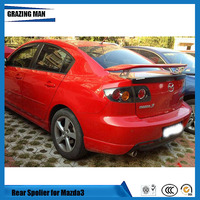 High Quality ABS Primer Unpainted Color Car Rear Spoiler For Mazda 3 spoiler 2014 2015 2016 2017