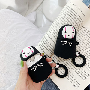 Image 2 - For AirPods Case No Face Man Protective Cover Wireless Earphone Case For Air pods 2 Headphone case with Finger Ring Strap cover