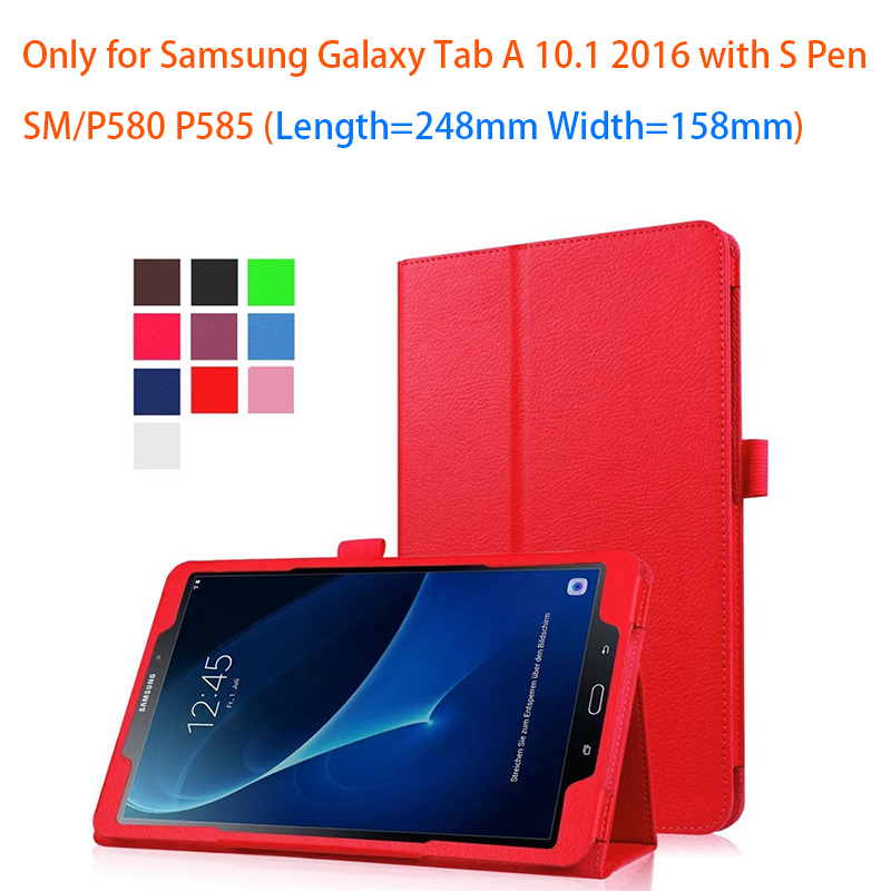 Case For Samsung Galaxy Tab A6 10.1 SM-P585, Smart Stand Case PU Case Cover Shell for Samsung Galaxy Tab A6 10.1 P580 P585 Funda разъем smart fsat 1000 sm 6 p 2 54 componnets sm 6 p