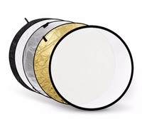 Portable Godox 5 In 1 Collapsible 80cm 32 Lighting Flash Diffuser Round Reflector Disc Gold Silver