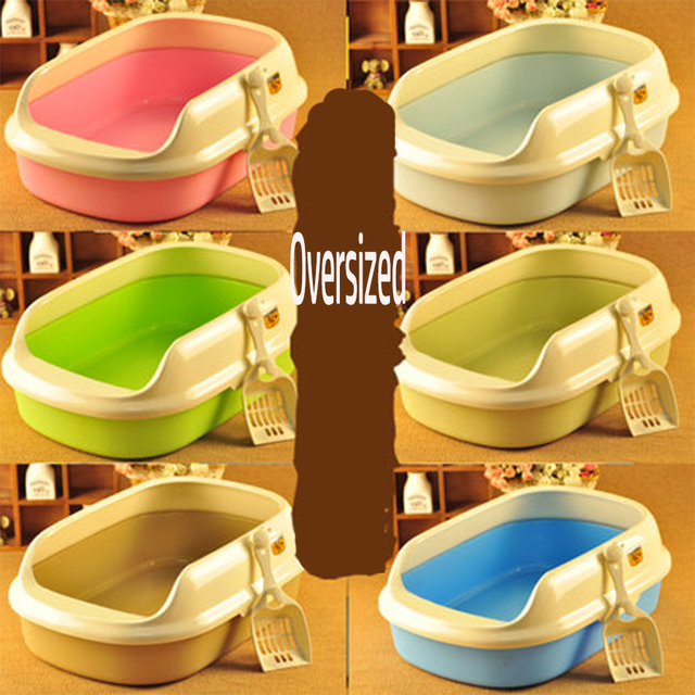 Resin Cat Closed Toilet Double Layer Training Box Pet Litter Tray Potty Lettiera Gatto Sort Out Areia Gato Pets Products 80Z1953