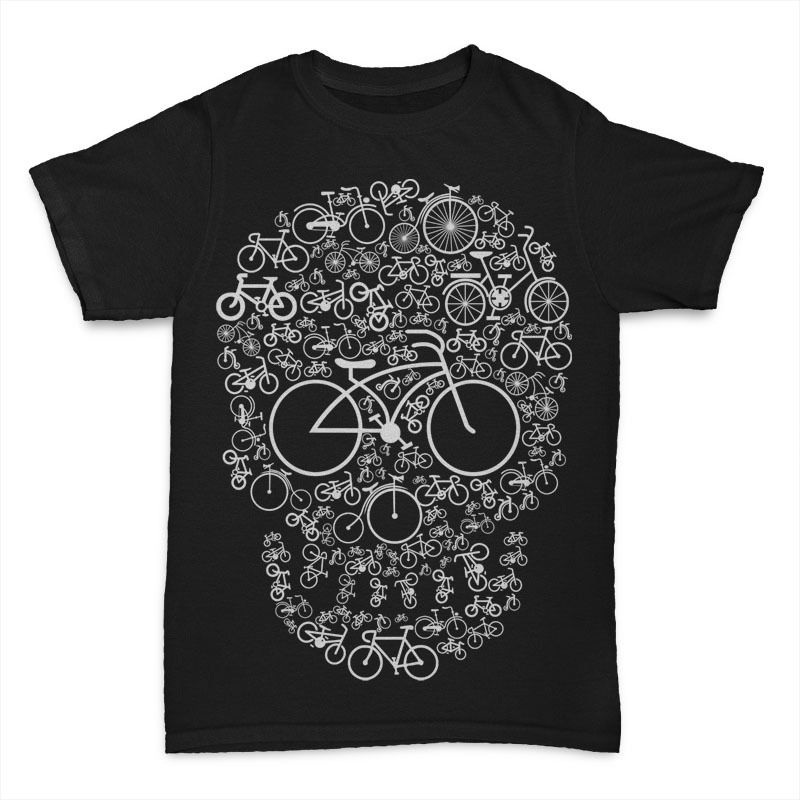Print Tee Shirt For Male Crew Neck Short-Sleeve Graphic Hot Sale Summer Bicycle Skull Crew Neck Men Short Sleeve Best Friend Shi