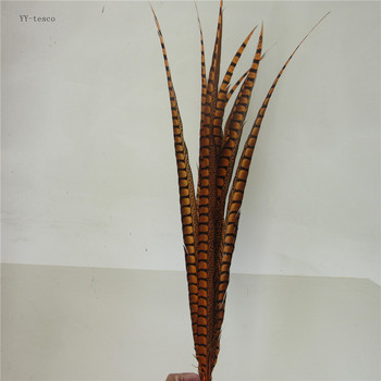 10pcs 36-40inch/90-100cm natural Lady Amherst Pheasant Feather Orange pheasant feathers for carnival party costumes decoration