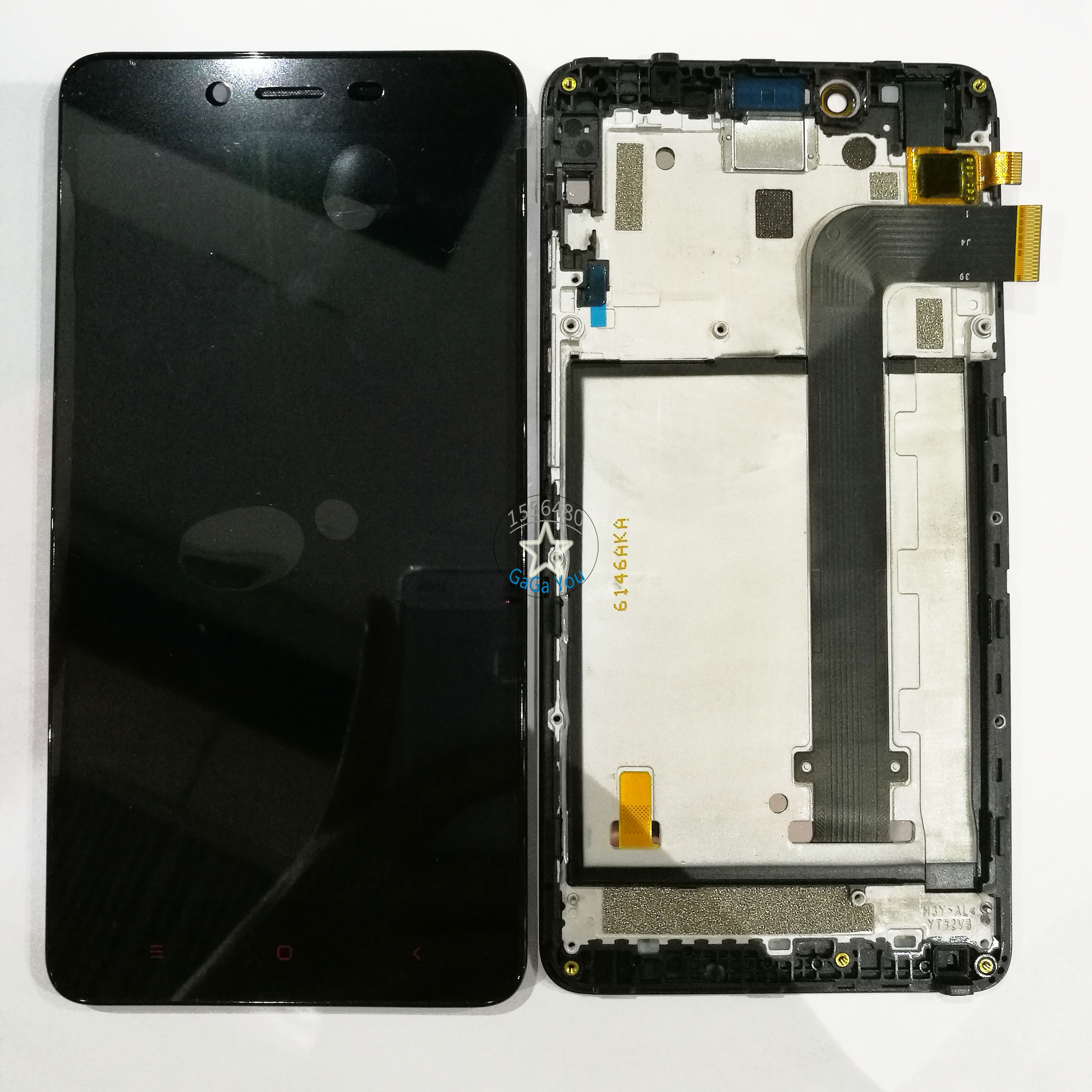 ФОТО Original New LCD Display +Touch Screen Panel Digitizer +Bezel Frame Assembly For Xiaomi Redmi Note 2 Replacement Parts
