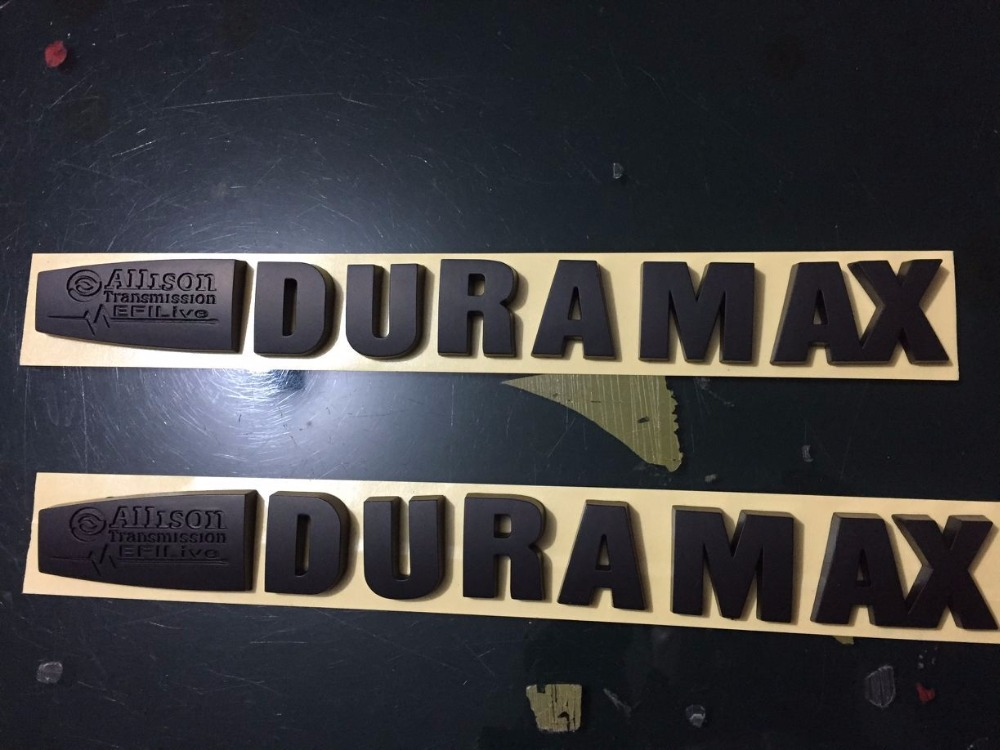 Efi Live Duramax >> Us 31 35 5 Off 2 New Duramax Allison Efi Live Matte All Black Hood Emblems Badges In Automotive Interior Stickers From Automobiles Motorcycles On