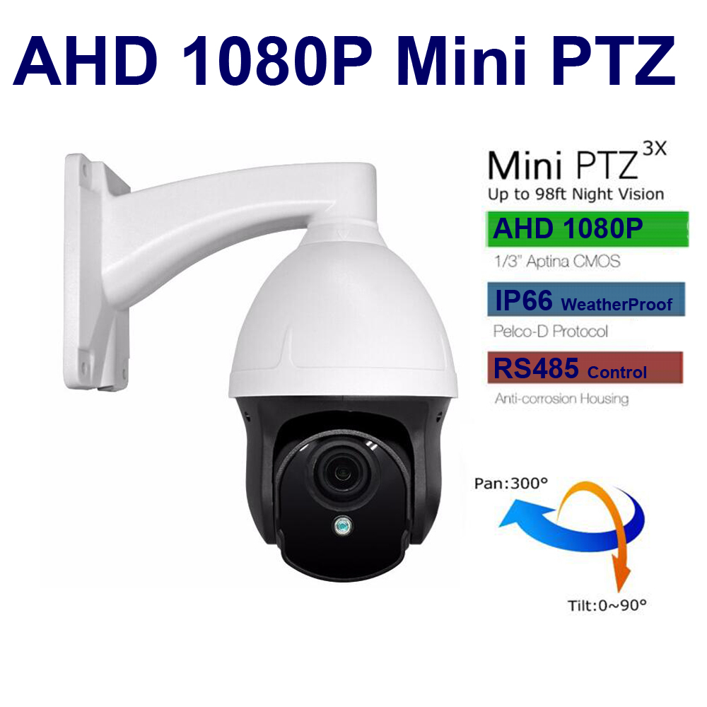 HD 1080P Cam AHD Camera mini PTZ  Speed dome IR Camera 3X Zoom 3inch 2.8-8mm cctv video surveillance security system new ahd tvi cvi cvbs 1080p mini ir ptz night vision zoom dome camera zoom lens dome camera with 3x optical zoom 2mp motorized