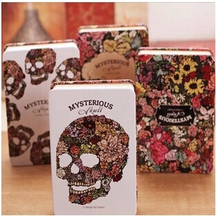 Mysterious rose skull notebook (1 pc.)