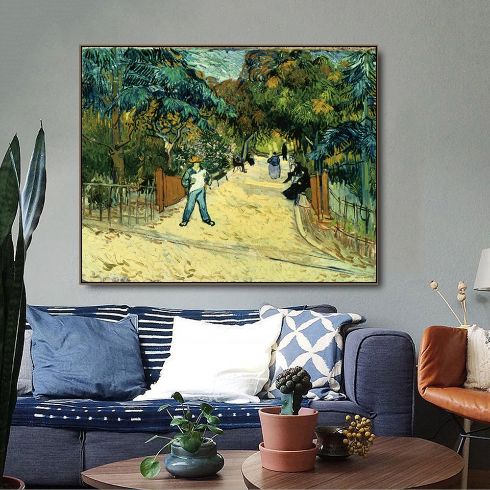 Alle In Gardens By Vincent Van Gogh Canvas Painting Calligraphy Prints Home Decor Wall Art Pictures For Living Room Bedroom
