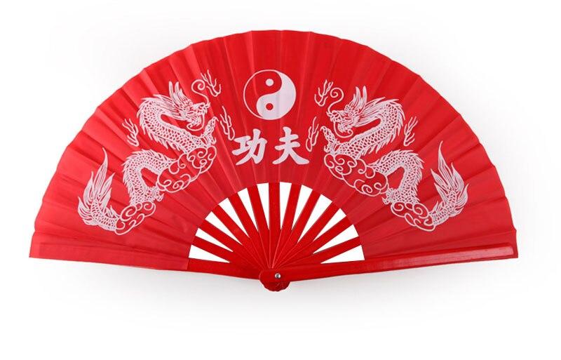 Лидер продаж черный, красный занятий кунг-фу вентилятор Чистый Пластик тайцзи вентилятор тай-чи вентилятора Двусторонняя вентилятор левая рука