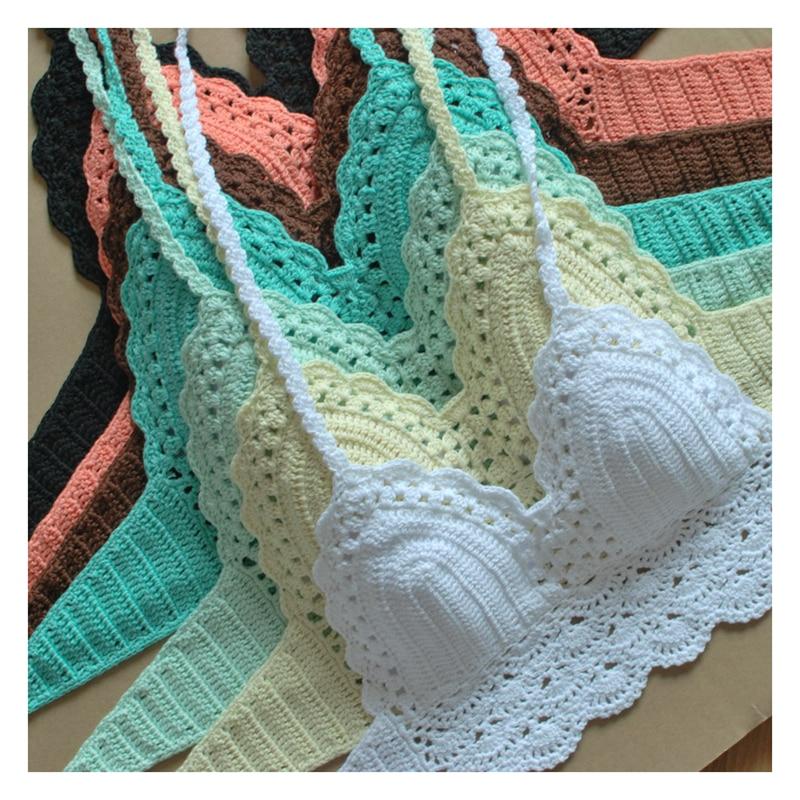 2016 High Quality Crochet Bikini Top, Brazilian Bra Biquini Bathing Suit Swimwear