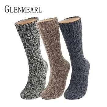 3 Pairs Pack Merino Wool Women/Men Socks Top Grade Brand Hemp Winter Warm Thick Coolmax Hosiery Snow Boot Ladies/Male