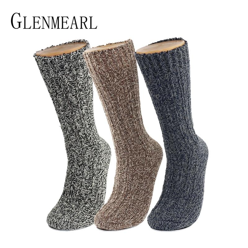 Носки женские/мужские из мериносовой шерсти, теплые толстые зимние чулочно-носочные изделия Coolmax, зимние брендовые, с конопляной подкладкой...