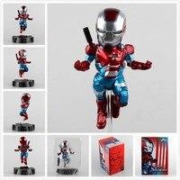 Os vingadores homem de ferro ataque ovo patriota a. i. m versão super hero ironman figura coleção ação pvc modelo de brinquedo de presente 18 cm