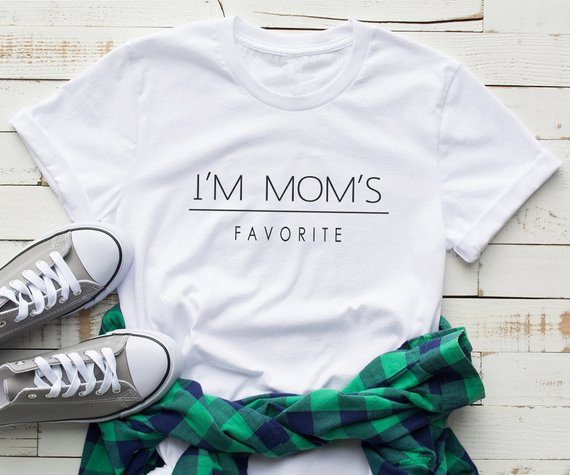 36a0d723 Sugarbaby I'm mom Favorite Funny t shirt With Saying Daughter Gift for Women  Graphic tee Funny gift for her Cute Pink T shirt -in T-Shirts from Women's  ...