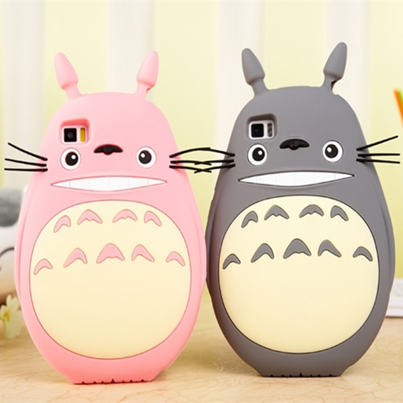 3D Japan Rubber Cute Cartoon Animal Totoro Soft Silicone Case For Xiaomi Mi 3 4 4C
