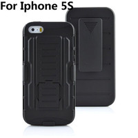 5pcs Lot 5S 4S Case Future Armor Impact Holster Hybrid Hard Silicon Case Cover For Iphone