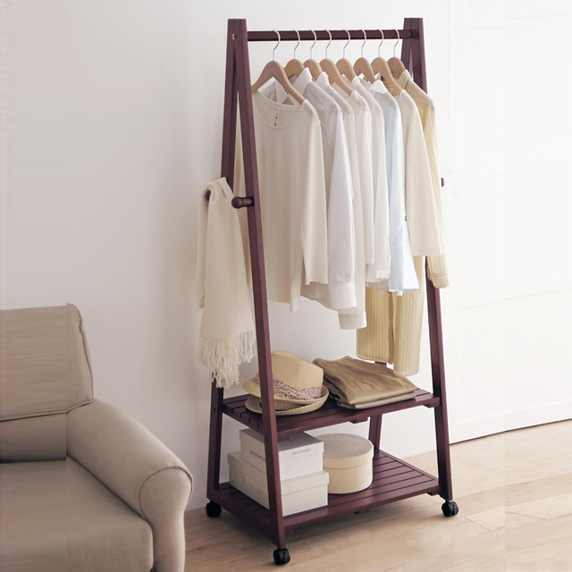 creatieve thuis yi vloer hout kapstok hanger hanger vloer IKEA Shoe Rack bedroom clothes rack ideas