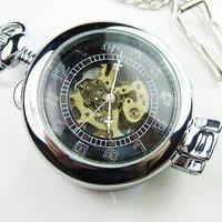 2010 New Classic Antique SilverTone Roman Mechanial Pocket Watch
